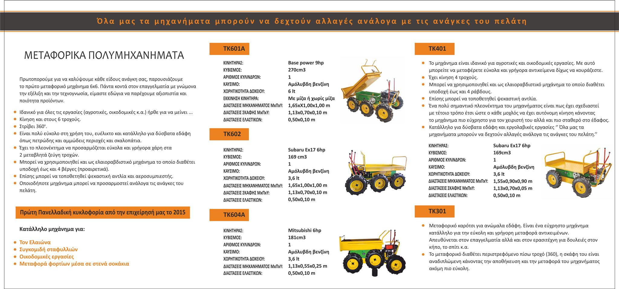 Μεταφορικά Μηχανήματα Φυλλάδιο - Ταμπακάκης